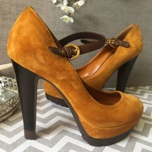 Sergio Rossi Shoes Heels Platform Suede Pump